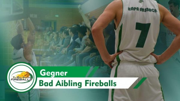 Flyer Basketball-Spiel Ansbach gegen Bad Aibling