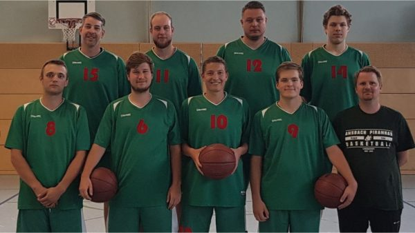Mannschaftsfoto 3. Herren-Mannschaft Ansbach Piranhas 2019-20