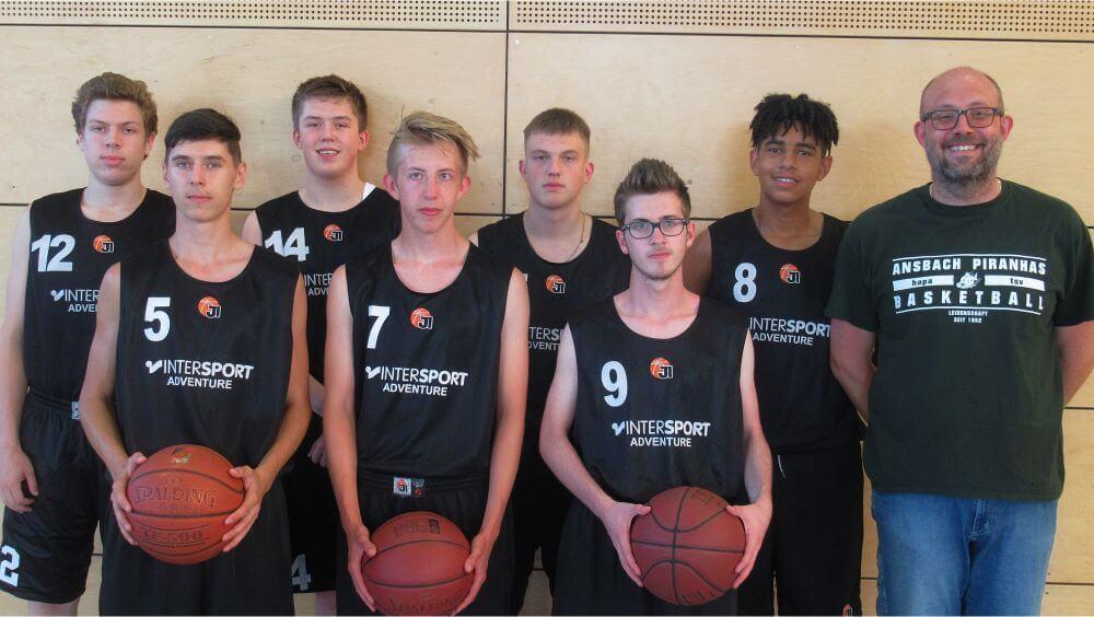 Mannschaftsfoto U18-Mannschaft Ansbach Piranhas 2019-20