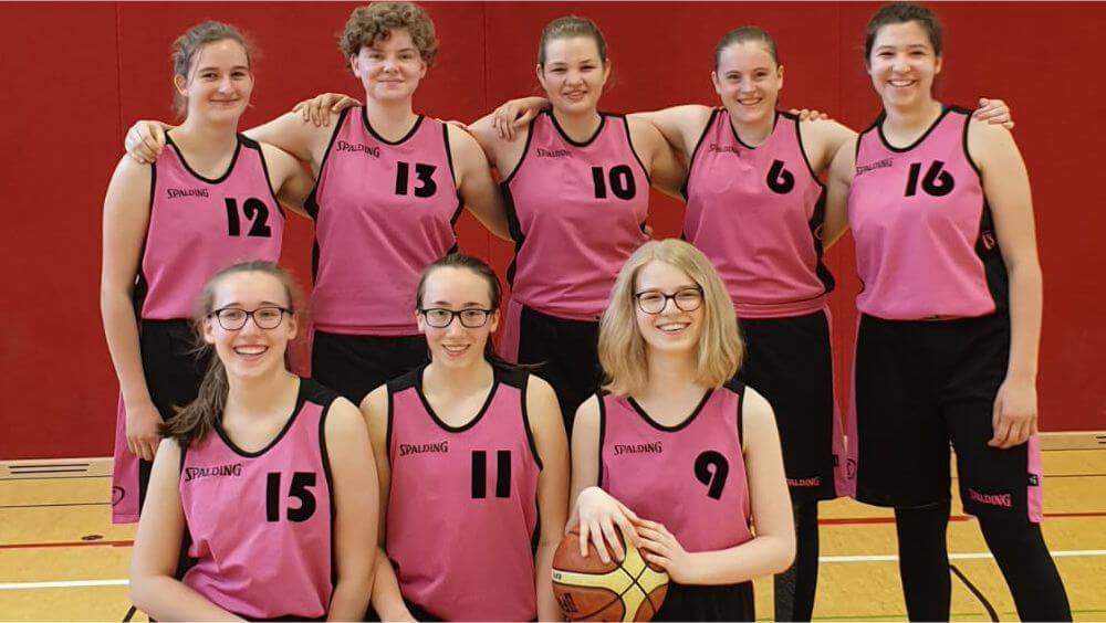Mannschaftsfoto U18w-Mannschaft Ansbach Piranhas 2019-20