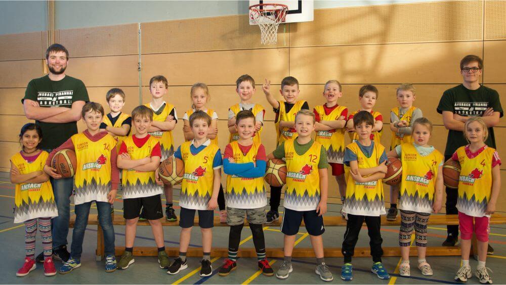 Mannschaftsfoto U8-Mannschaft Ansbach Piranhas 2019-20