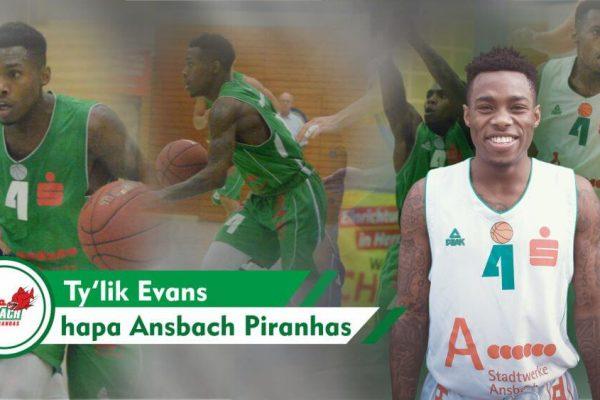 Bild von Tylik Evans - Ansbacher Basketballer
