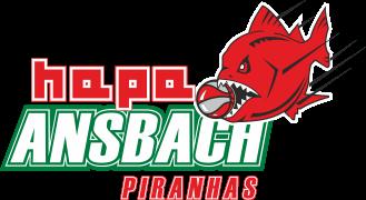 Logo der hapa Ansbach Piranhas - Basketball-Regionalliga-Mannschaft des TSV 1860 Ansbach